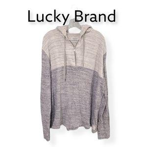 Lucky Brand Mens Grey Label Hooded Sweatshirt